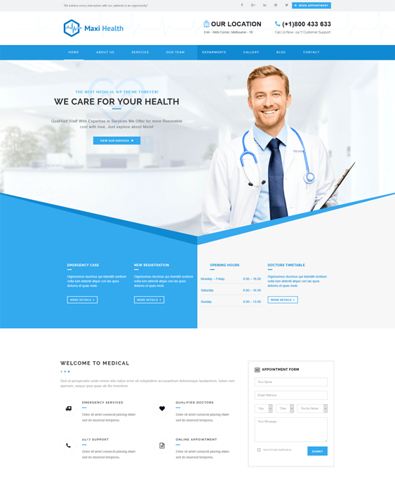 maxi medical wordpress themes