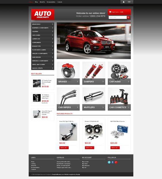 auto-parts-responsive- car vehicle automotive shopify themes