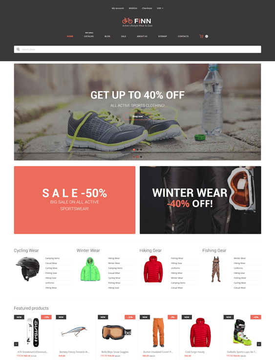 extreme- sports fitness shopify themes