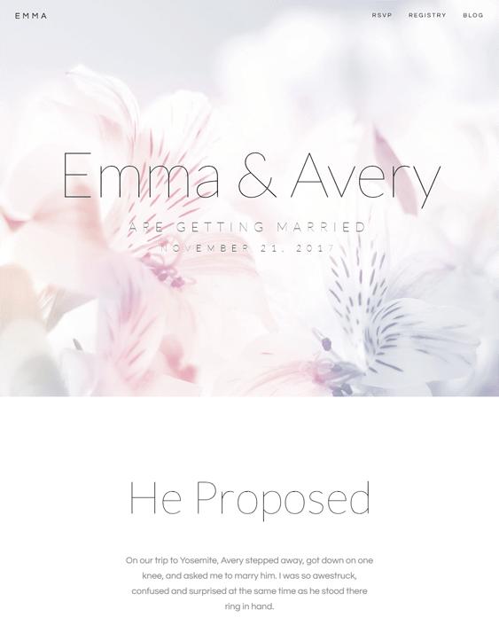 emma wedding wordpress themes