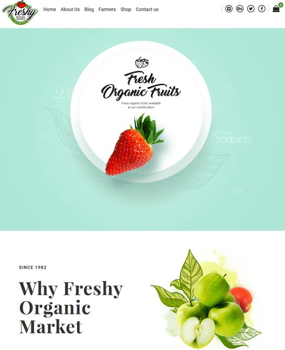 freshy food drink wordpress themes