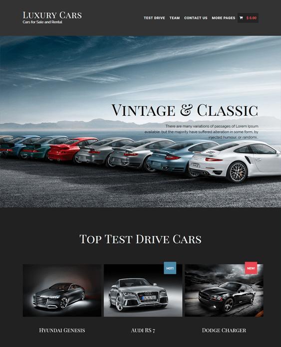luxury cars car vehicle automotive wordpress themes