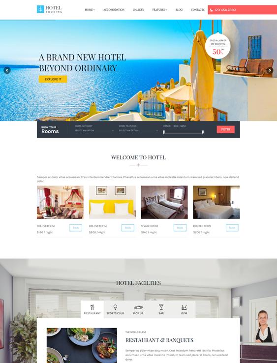 hotel-wordpress-theme booking