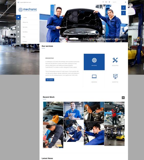 wisey car, vehicle, and automotive WordPress theme