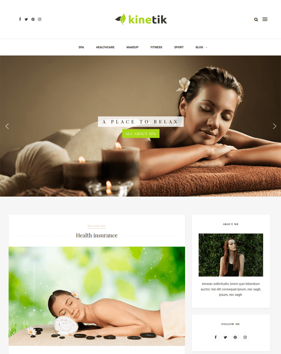 kinetik beauty salon spa wordpress themes
