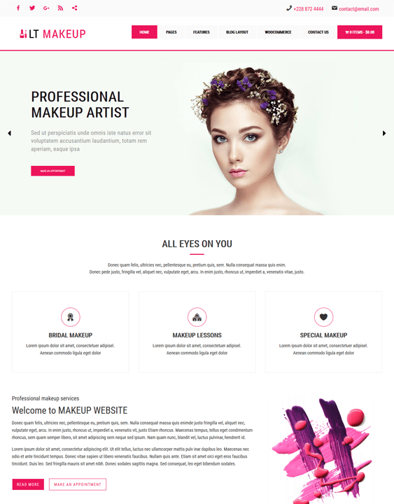 lt makeup beauty salon spa wordpress themes