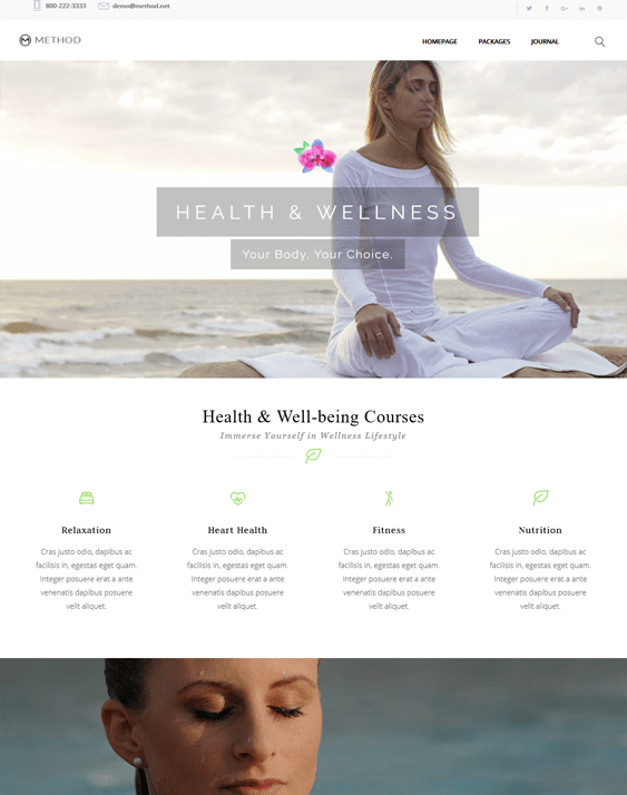 method beauty salon spa wordpress themes