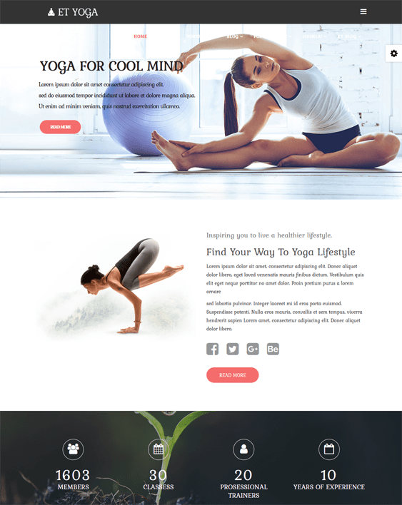 et yoga fitness wordpress themes