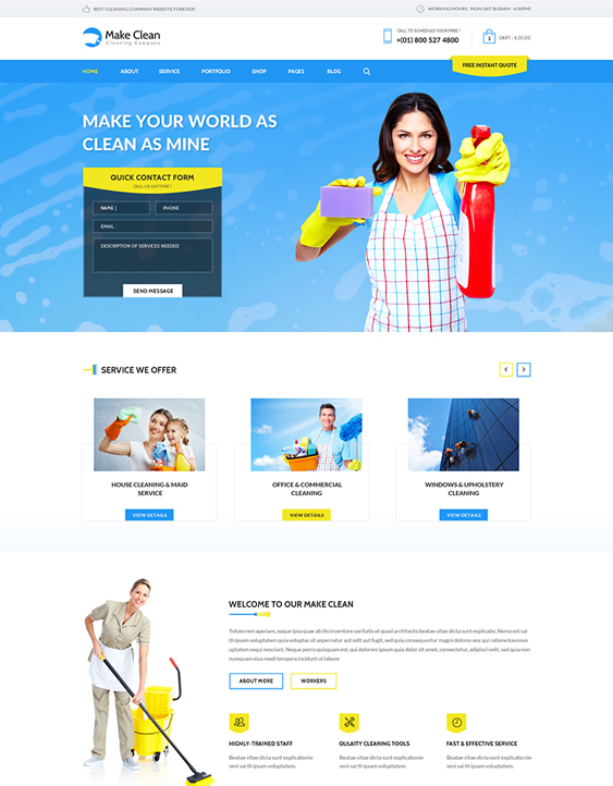 make clean wordpress themes maid cleaning companies