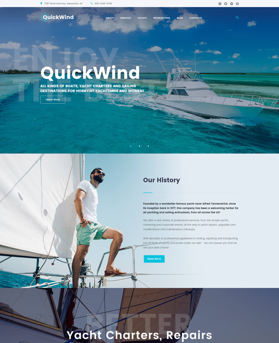 yachting--voyage-charter-travel wordpress-theme_62365-original