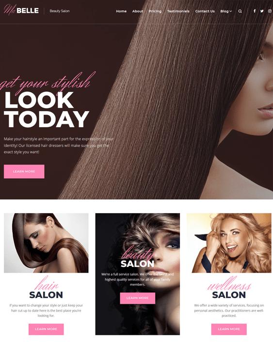 mabelle wordpress themes beauty salons spas