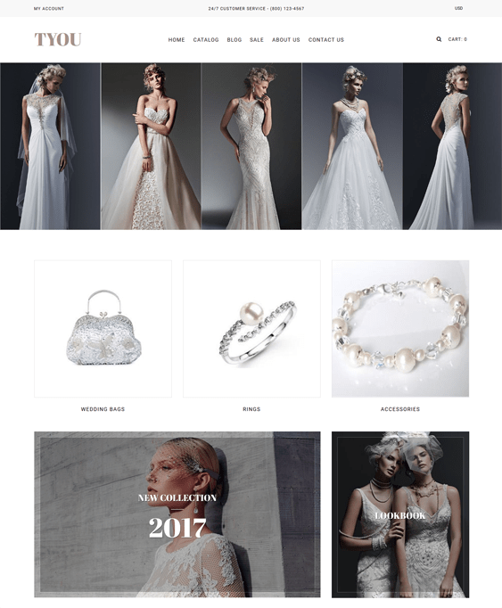 wedding fashion shopify themes clothing stores