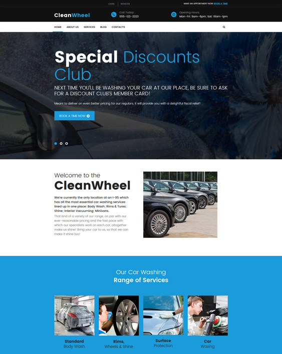 CleanWheel Car Wash WordPress Theme