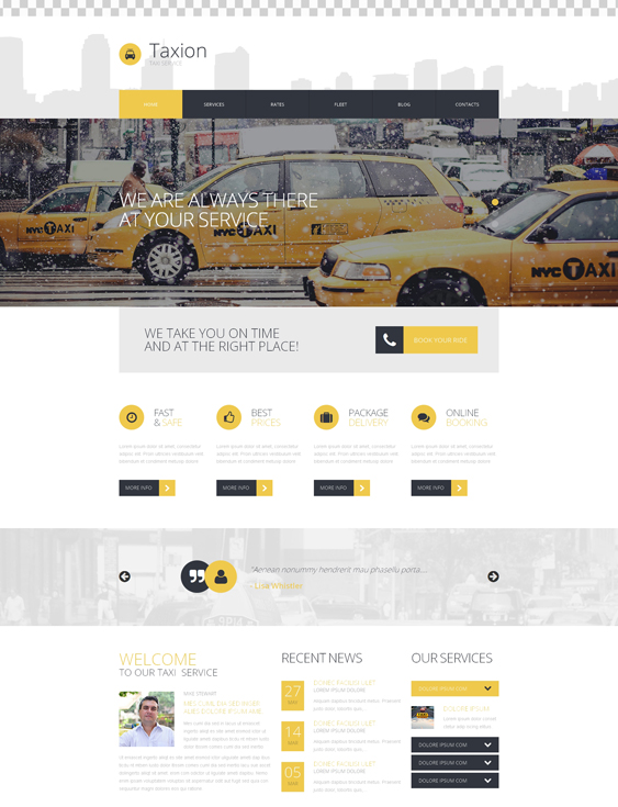 Fast and Furious Taxi cab Services WordPress Theme