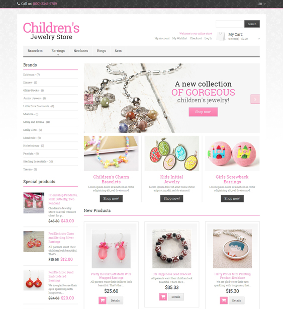 Jewelry store Responsive Magento Theme