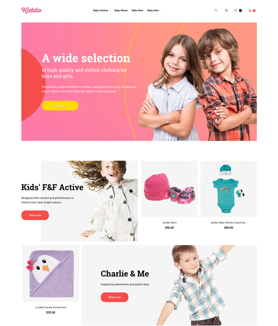 clothing-mobile-optimized- baby kids children Magento Themes_62248-original
