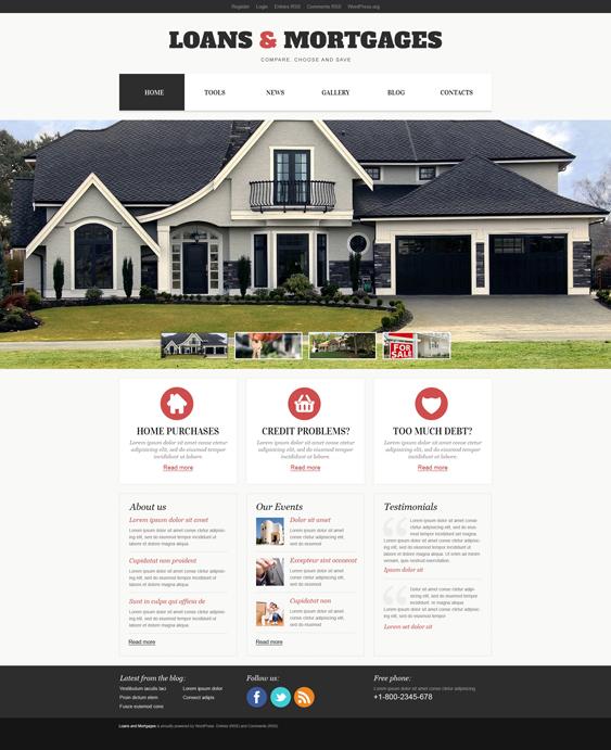 Light loans mortgages wordpress themes