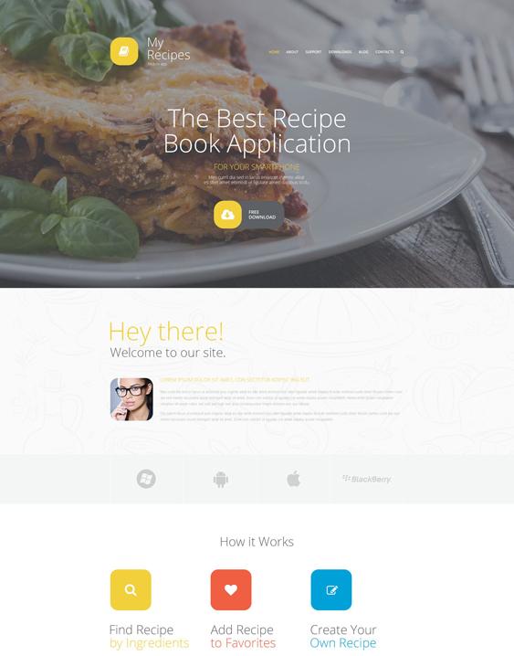 My Recipes blogs websites Joomla Template