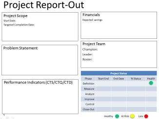 DMAIC Project Report Template