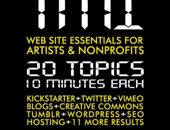 TMI: 20 Topics for Success on the Web at The Luminary Center for the Arts