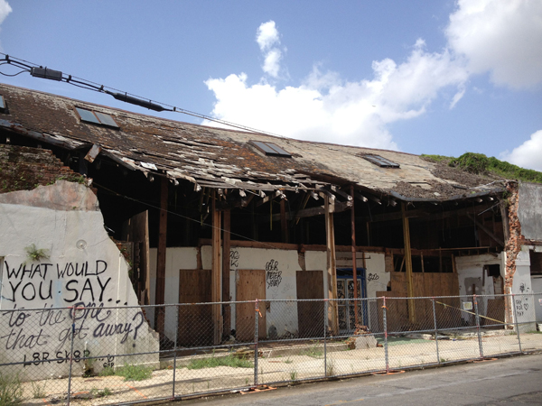 Dilapidated building on Dauphine Street in the Bywater (building now being renovated). Photo courtesy of Amy Mackie.