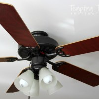 Updating a ceiling fan with a little paint!
