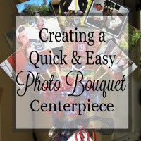 Quick and easy centerpiece using photographs