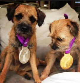 Maggie Rusty medals