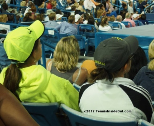 Rafa bull and Federer hat cap Fedal harmony sisters family Cincinnati Open 2012 pictures phtoos