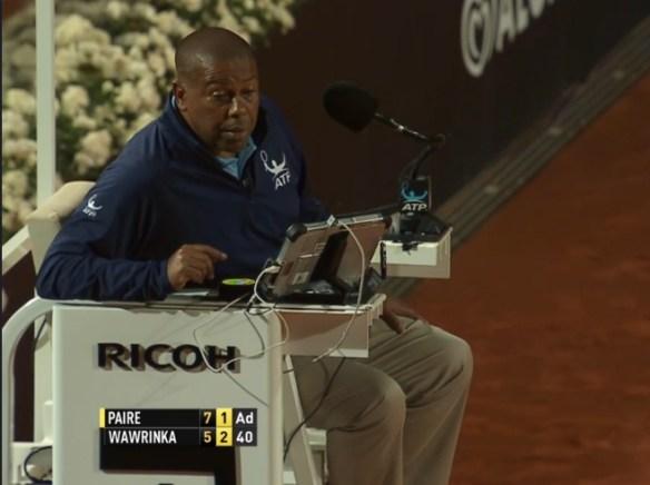 Carlos Bernardes umpire argument with Wawrinka