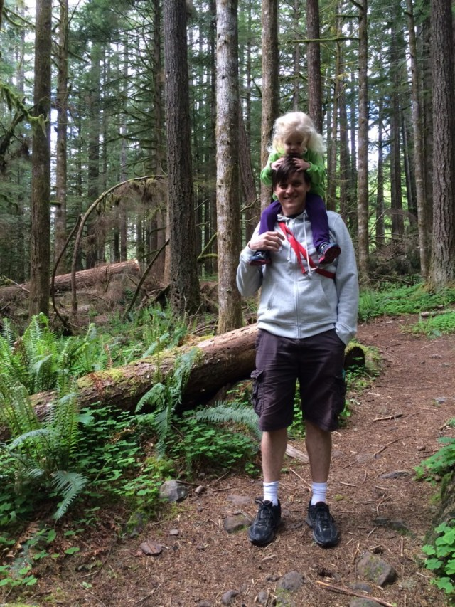 Parenting gets easier family hike