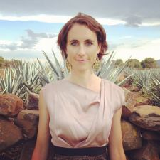 Sophie Decobecq among the agave.