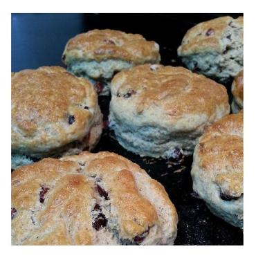 scones, diva tequila, cranberry, orange, recipe