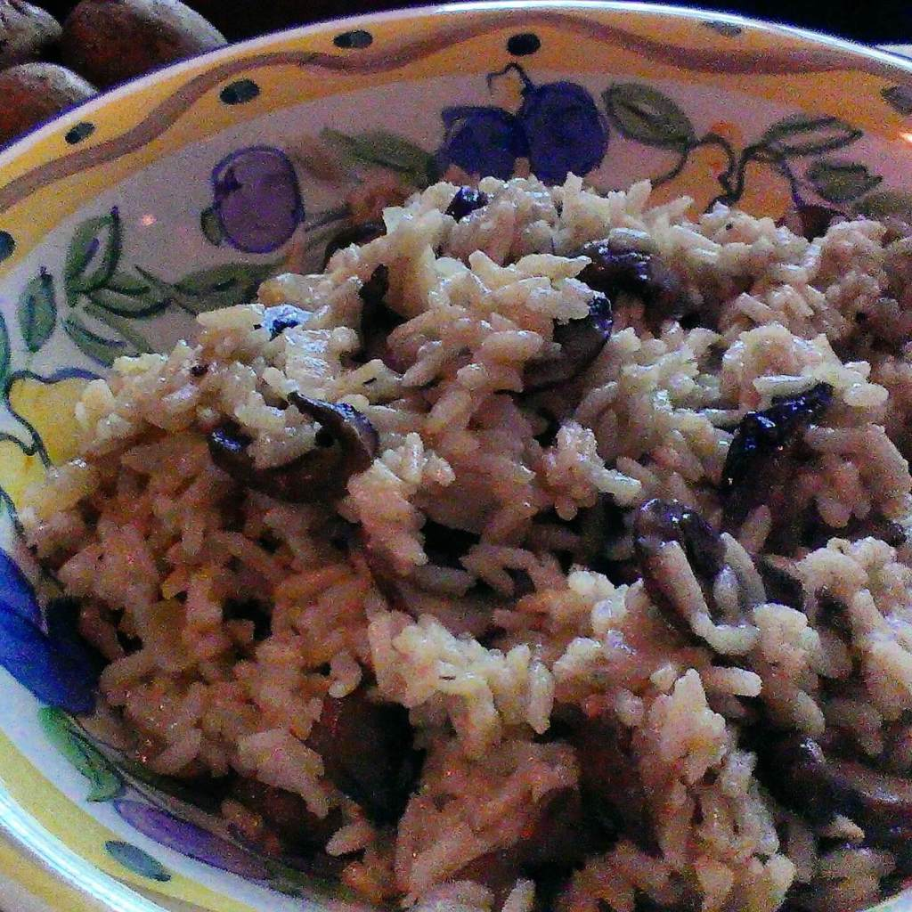 mushroom risotto with long grain rice