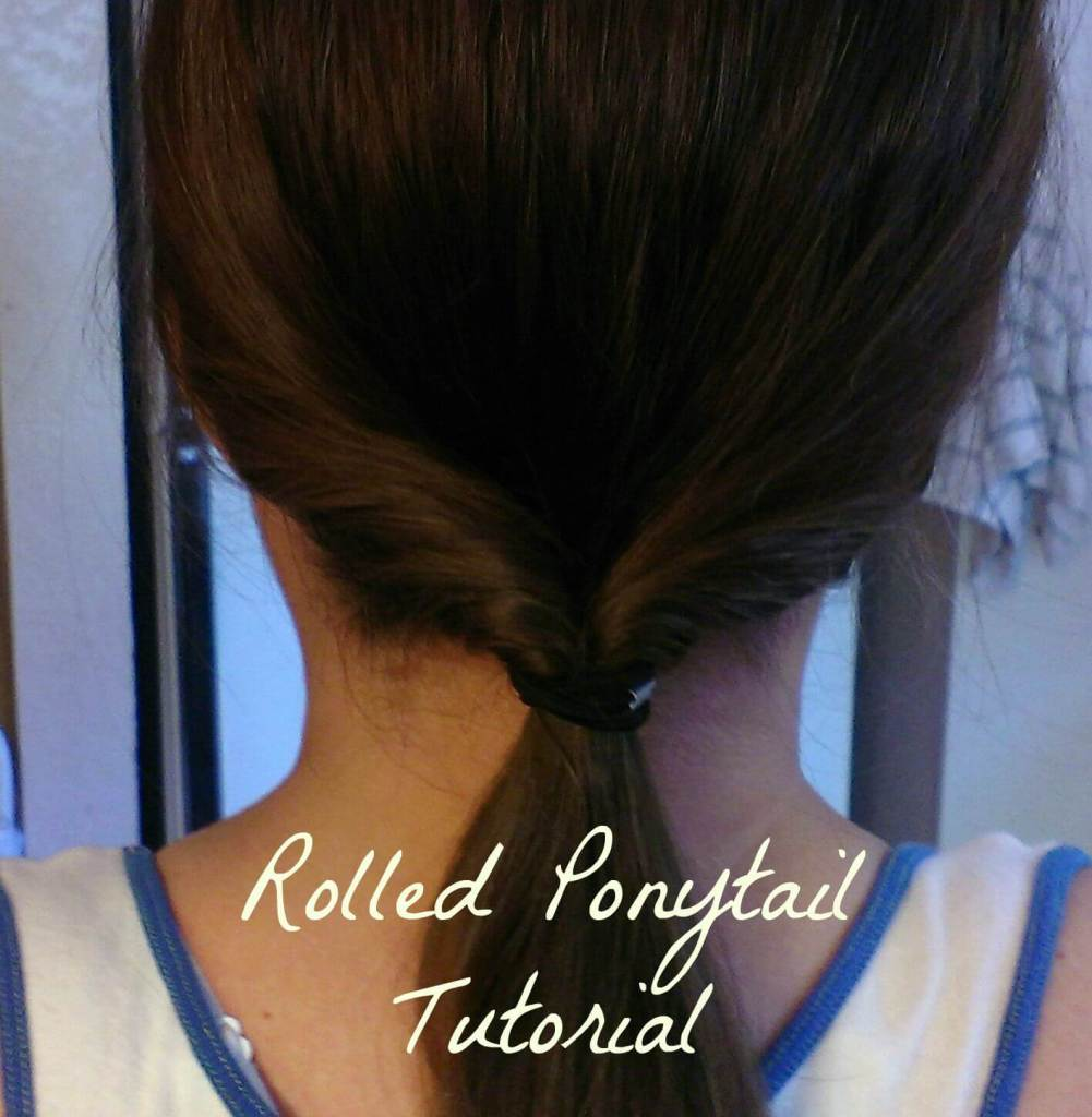 rolled ponytail tutorial