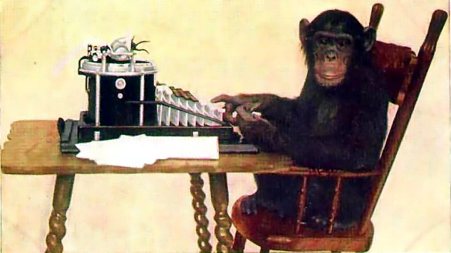"""Monkey-typing"" by New York Zoological Society - Public Domain"
