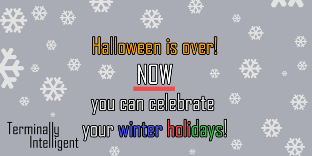 halloween is over