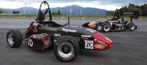 The computer models Chris Patton wrote for Oregon State's Formula SAE team helped create a faster, more efficient car. (Photo: Robert Story)