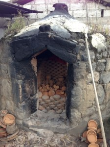 A kiln for firing pottery in La Victoria, Ecuador.