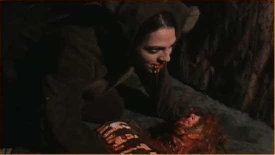 "Kodie (Jennifer Stone) in all her bear-skinned glory in ""Kodie"""