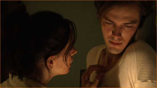 "Jacob (Zak Kilberg) and Mary (Maya Parish) in ""Midnight Son""."