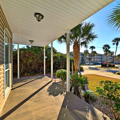 Crystal Beach Destin rental home from porch