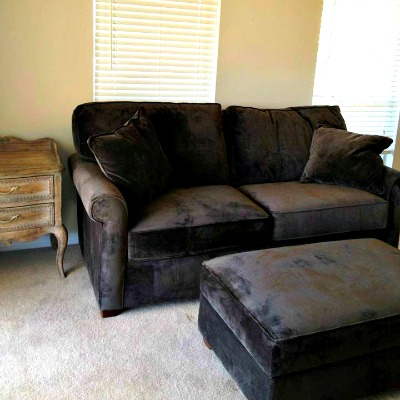Crystal Beach Destin rental home sleeper sofa