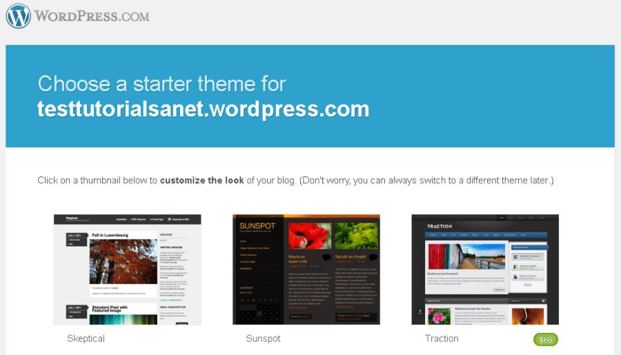 cara membuat blog di wordpress memilih theme