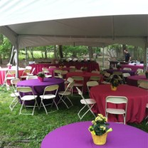 20x40 Backyard Wedding Tent Rental with Tables and Linens