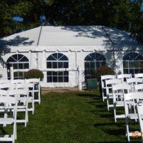 30x45 Wedding Frame Tent Set Up