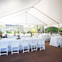 Wedding Tables Under Keder Frame Tent