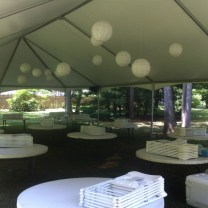 30x60 Keder Frame tent with Decorations