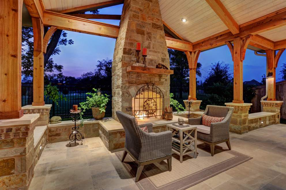 hill country charm with scandinavian accents texas custom patios