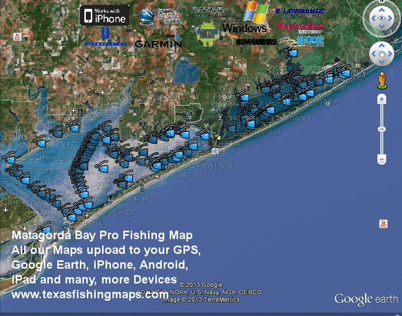 Matagorda Bay Fishing Maps Texas Fishing Maps And